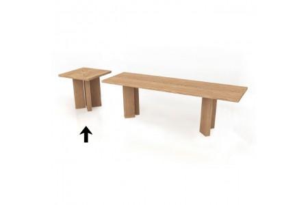 Sgabello in legno massiccio